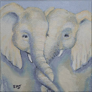 Baby Elephant Friends by Sandy Murphree Jacobs