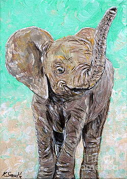 Baby Elephant by Kirsten Sneath