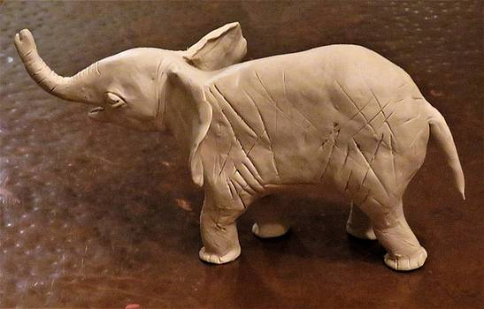 Baby Elephant WIP by Mario Carta