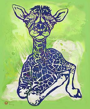 Baby Giraffe  -  stylised pop art poster by Kim Wang