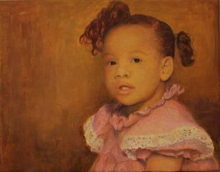 Baby girl portrait by L Stephen Allen
