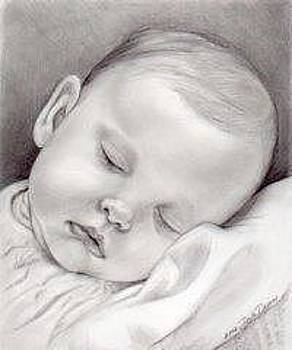 Baby Girl Sleeping by Darla Dixon