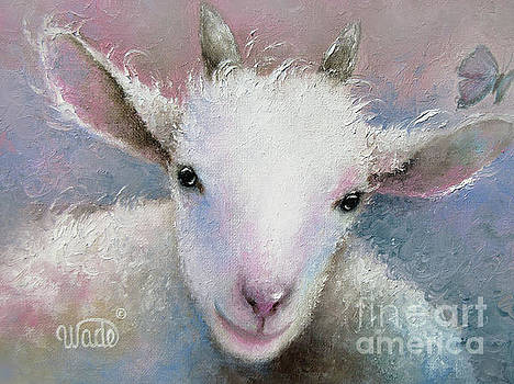 Baby Goat Painting by Vickie Wade