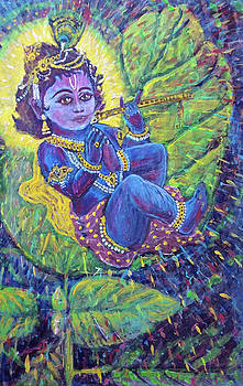Baby Krishna by Michael African Visions