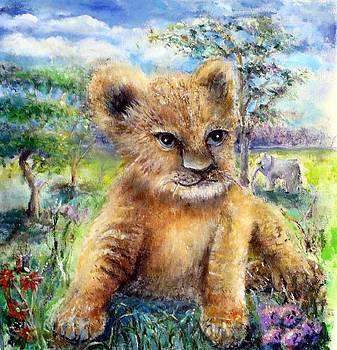 Baby Lion by Bernadette Krupa