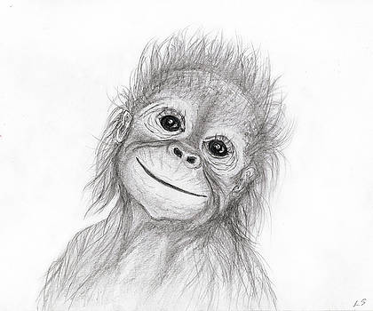 Baby orangutan by Sergey Lukashin
