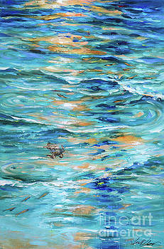 Baby Sea Turtle in Shallows by Linda Olsen