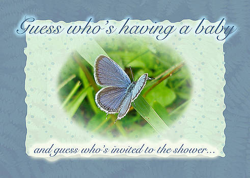 Mother Nature - Baby Shower Invitation - Blue Butterfly