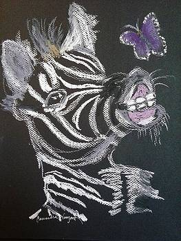 Baby Zebra and Butterfly by Cassandra Vanzant