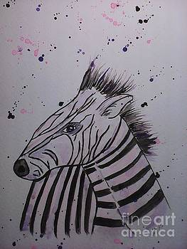 Baby Zebra by Ginny Youngblood