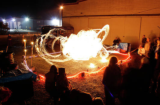 Back Alley Fire Show 2 by Dave Brooksher