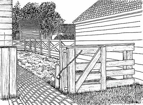 Back Gate to Garden and Pasture by Dawn Boyer