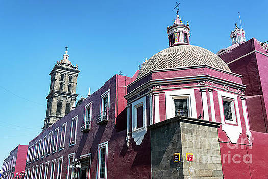 Back of Puebla Cathedral by Jess Kraft