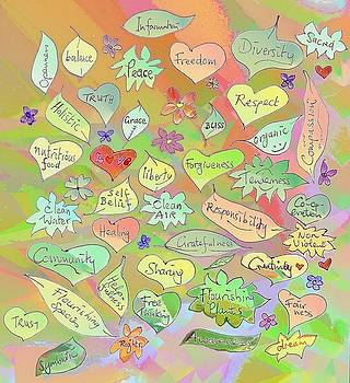 Back to The Garden Leaves, Hearts, Flowers, with Words by Julia Woodman