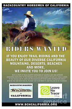 Backcountry Horsemen Join Us Poster by Rhonda Strickland