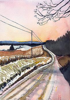 Backlit Roads by Katherine Miller