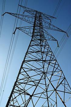 Reimar Gaertner - Backlit steel lattice suspension electric tower with high tensio