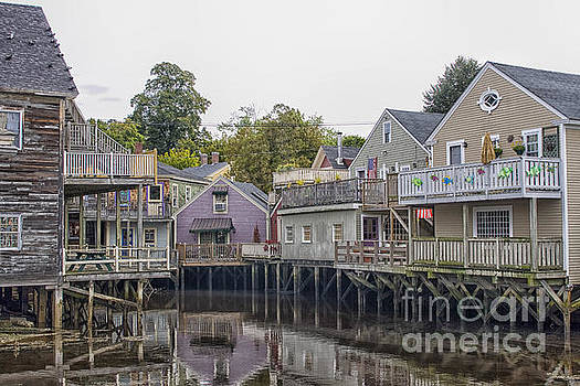 Patricia Hofmeester - Backside of wooden houses over water