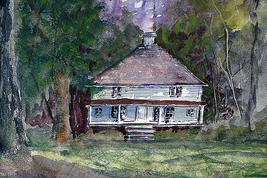 Backwoods Cottage - Watercolor Landscape by Barry Jones