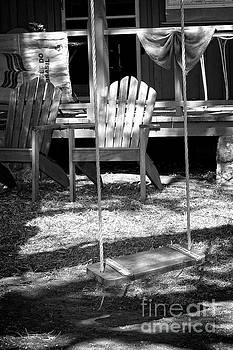 Backyard bw by Ella Kaye Dickey