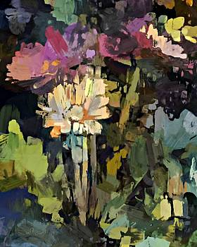 Backyard Flowers - Abstract by Don Berg