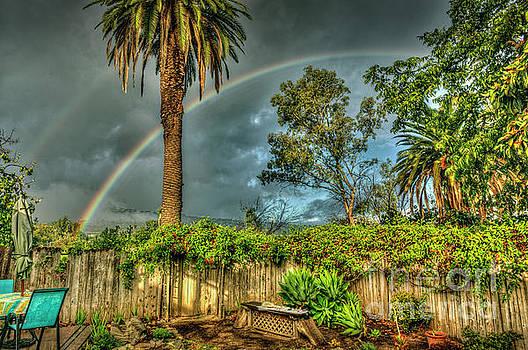 Backyard Phone Double Rainbow by David Zanzinger