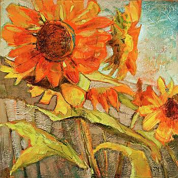 Backyard Sunflowers by Jen Norton