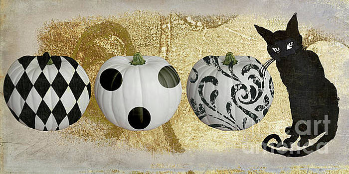 Bad Cat Halloween Horiz by Mindy Sommers