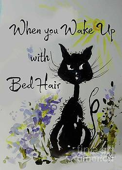 Bed Hair Day Cat by Ryn Shell