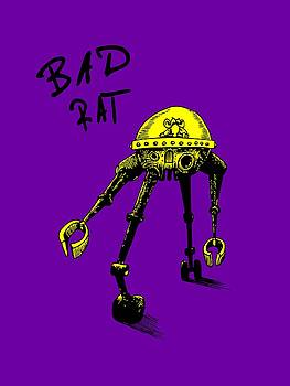 Bad Rat In Retro Yellow by Kim Gauge