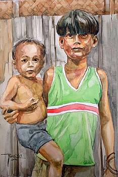 Badjao brothers by Bong Perez
