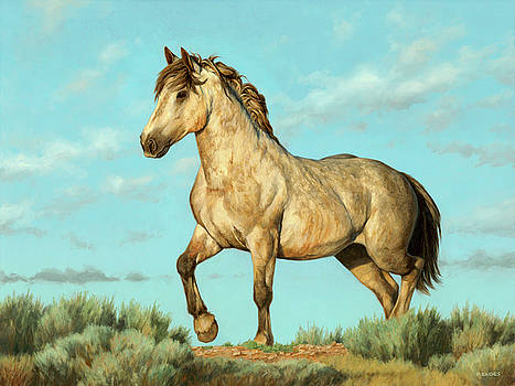 Badlands Mustang by Peter Eades