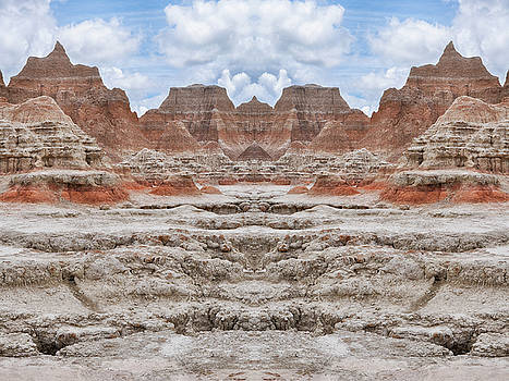Badlands South Dakota Mirror by Kyle Hanson