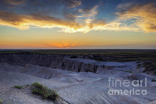 Badlands Sunset Overlook by Joan McCool