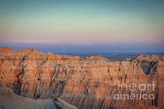 Badlands Sunset View to the East by Joan McCool