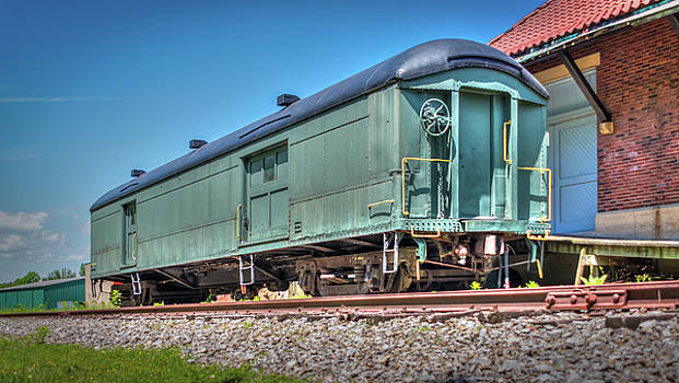 Baggage Car at Orchard Park Depot by Guy Whiteley
