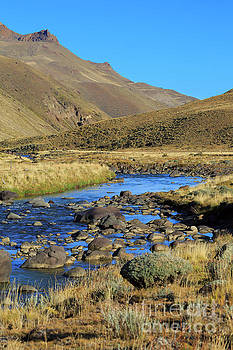 Baguales River in the Sierra Baguales of Patagonia Chile by Louise Heusinkveld