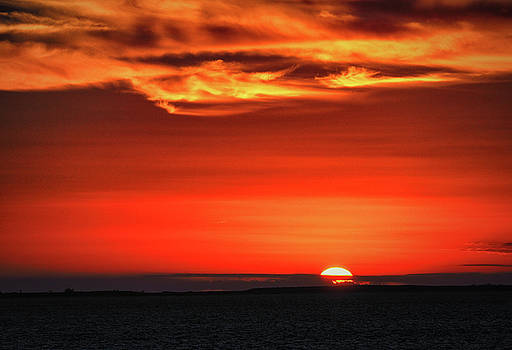 Bahamas Sunset Over Coco Cay by Bill Swartwout