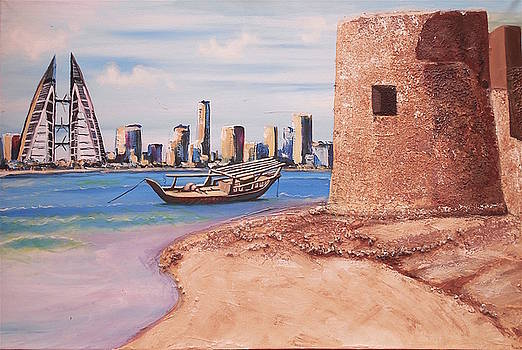 Bahrain Beach by Eric Shelton