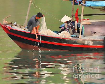 Bai Tu Long Fishermen by Josephine Cohn