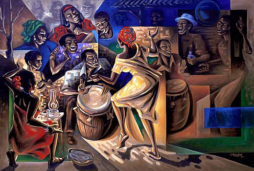 Baile de bomba en las Carreras by Samuel Lind