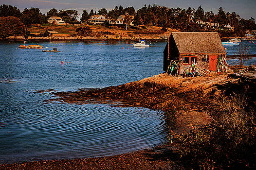 Bailey Island garden shack Mackeral cove Maine by Jeff Folger