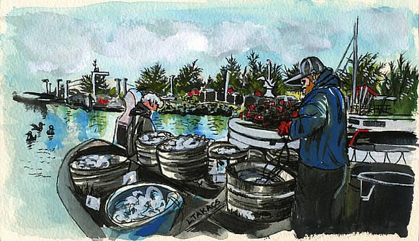 Baiting for Sable Fish by Lynn Takacs