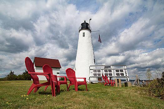 Bakers Island Lighthouse Salem by Jeff Folger