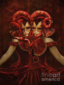 Bal Du Mask Venice 1 by Babette Van den Berg