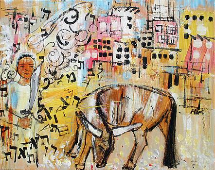 Balaams Donkey Sees the Angel 201762 by Alyse Radenovic