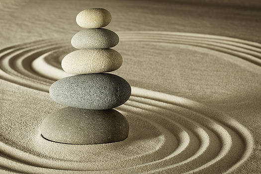 Balance And Harmony In Zen by Dirk Ercken