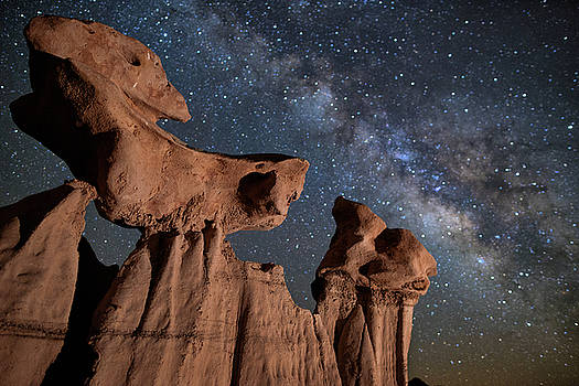 Balance In The Bisti Badlands by Mike Berenson
