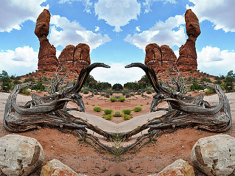 Balanced Rock Mirror by Kyle Hanson