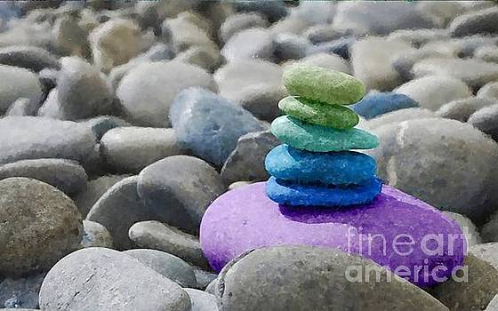 Balancing Colorful Life by MS  Fineart Creations